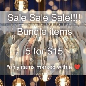 Sale! 5 for $15